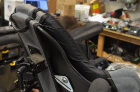 Top of JAY 3 Backrest with custom flared top
