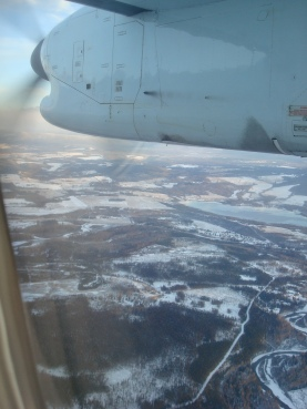 Landing in Smithers...Brr!
