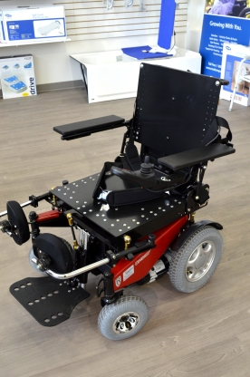 Ranger Express Rear Wheel Drive Power Wheelchair with Stander