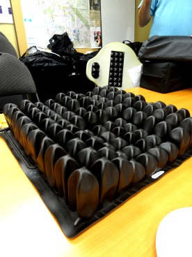 ROHO Enhancer cushion (Roho agility backrest at back of photo)