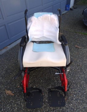 Quickie 2 wheelchair with custom seating