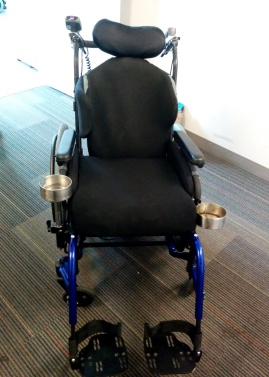 Quickie Iris, Jay 3 backrest with custom lateral add on and Prism Supreme cushion with pelvic laterals