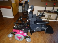 Custom power wheelchair transfers system side view