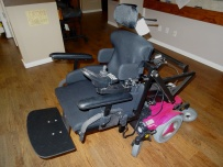 Custom power wheelchair transfer system other side view
