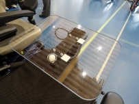 Active Controls proportional joystick mounted in tray